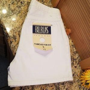 Bill Blass white jean shorts, 12 NWT